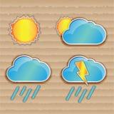 погода солнца дождя икон облака иллюстрация штока