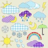 погода стикеров Стоковое Изображение RF