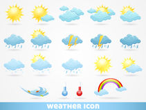 погода установленная иконами Стоковое Изображение