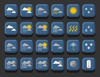 погода установленная иконами иллюстрация вектора