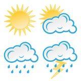 погода установленная иконами Стоковое фото RF