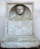 Погребальный сляб в ваннах Diocletian в Риме Стоковые Изображения RF