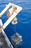 Погружать в воду ROV (корабля управляемого remote) стоковое фото
