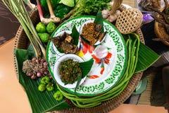 Погружение чилей или затир chili тайской еды стоковые изображения
