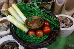 Погружение чилей или затир chili тайской еды стоковое фото rf