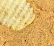 Погружение Hummus с картофельной стружкой Стоковые Изображения RF