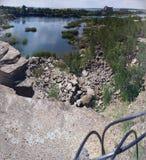 Погруженная в воду карьера гранита в Челябинске стоковые фотографии rf