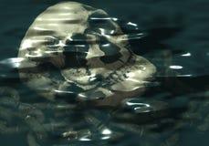 погруженный в воду череп иллюстрация штока