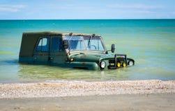 Погруженный в воду автомобиль Стоковое Изображение RF