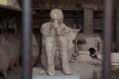 Поглощенный в потерянном городе Помпеи Стоковые Фотографии RF