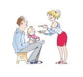 подавать младенца Иллюстрация вектора