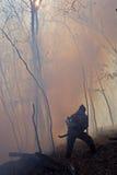 подавление пущи 28 пожаров стоковые фото