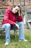 подавленная женщина стоковое изображение rf