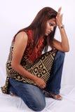подавленная женщина Стоковое Фото