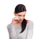 подавленная женщина yong стоковое изображение rf