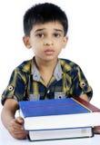 Подавленный индийский мальчик школы стоковое фото rf