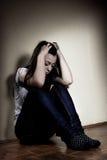 подавленный подросток Стоковое Изображение