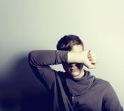 подавленный человек Стоковые Фото