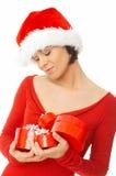 подарки держа женщину Стоковое Изображение RF