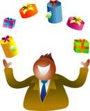подарки жонглируя бесплатная иллюстрация