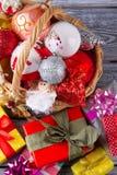 Подарки и другое вещество рождества Стоковая Фотография
