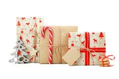 Подарки и помадки рождества стоковая фотография