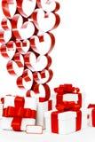 Подарки и сердца Стоковое Фото