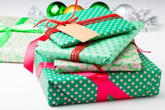 Подарки и украшения рождества Стоковое Изображение