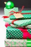Подарки и украшения рождества Стоковые Фото