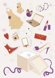 подарки коробки вне Стоковые Изображения RF