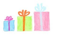 подарки коробки иллюстрация вектора