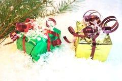 Подарки Кристмас Стоковое Изображение RF