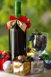 подарки на рождество бутылки Стоковое Изображение RF