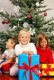 подарки на рождество детей Стоковые Изображения