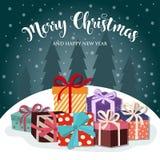 подарки на рождество карточки a4 вертикальные бесплатная иллюстрация