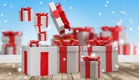 Подарки на рождество 3d-illustration иллюстрация штока