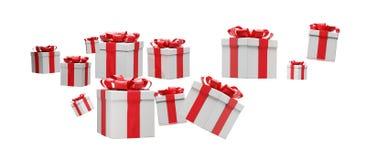 Подарки на рождество 3d-illustration иллюстрация вектора