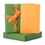 подарки пасхи карточки приветствуя Стоковые Изображения RF