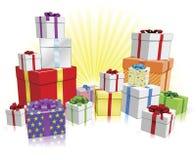 подарки принципиальной схемы много иллюстрация штока