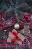 Подарки рождества в рамке годовщины Стоковая Фотография