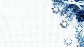 Подарки рождества и подарки на праздник Елевые ветви и d Стоковое Изображение