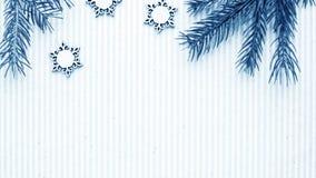 Подарки рождества и подарки на праздник Елевые ветви и d Стоковые Изображения RF