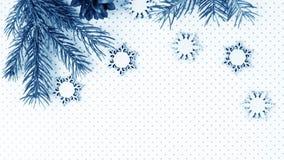 Подарки рождества и подарки на праздник Елевые ветви и d Стоковое Изображение RF