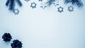 Подарки рождества и подарки на праздник Елевые ветви и d Стоковые Фото