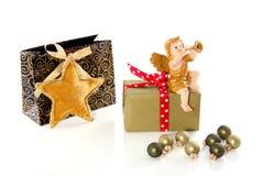 подарки рождества шариков ангела Стоковые Фотографии RF