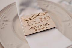 Подарки свадьбы к гостям стоковые фотографии rf