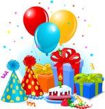 подарки украшения дня рождения Стоковая Фотография