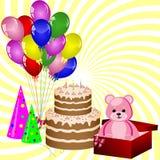 подарки украшения дня рождения Стоковые Фотографии RF
