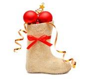 подарки s детей ботинка полные Стоковая Фотография RF