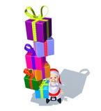 подарки santa claus иллюстрация вектора